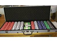Texas hold'me poker set