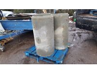 Concrete Drainage pipe x 6