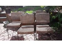 4 Habitat Dining Chairs reduced again from £80 to £50 + Free Patio Cover