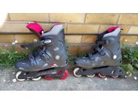 Inline roller skates in size 44 good condition