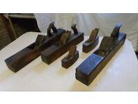 5 Antique Carpenter's Wooden Jack Planes