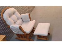 Maternity Nursing Gliding Chair With Matching Foot Stool