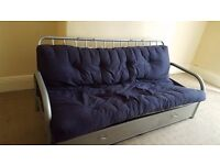 2x Double metal Sofa beds with storage. Either £50 each or £80 for the pair