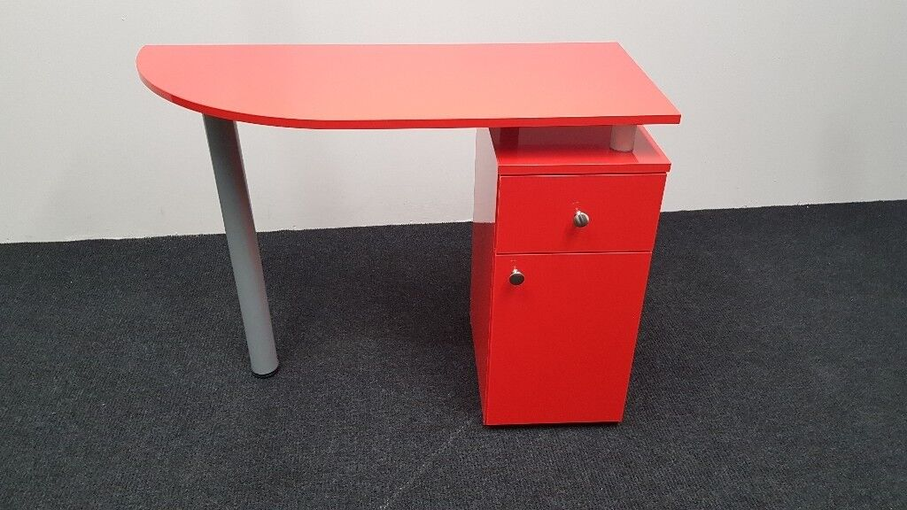 RED GLOSS Manicure Technicians Table Station Nail Bar ,BRAND NEW ...
