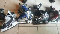 4 Paires de Patin a Glace Hockey JR. Graff CCM Easton Nike