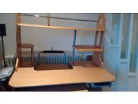 Office Desk - 110W x 60D x 75H (cm) in light oak colour