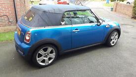 Mini Cooper S 1.6L Convertible Metallic Blue, Cream Leather, 2011, only 49k miles