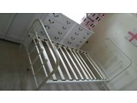 metal single bedframe and mattress