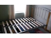 Aztec Bed Frame - Small Double - Metal and Oak