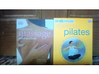 FOUR Healthy living books - Massage, Pilates (NEW WITH DVD), Health and Natural Remedies ALL FOR