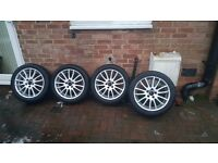 "17"" spartacus volvo alloys with tyres"