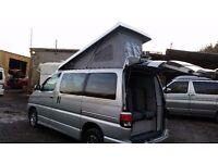 2000 TOYOTA HIACE REGIUS FULL BRAND NEW HIGH QUALITY SIDE CONVERSION 4 BERTH POP low miles