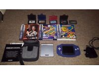 Game Boy Advance & GBA SP consoles + Games, case, charger etc. Working!