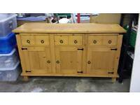 Rustic sideboard 3 cabinets