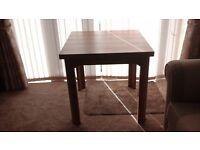 Brand New (unused) Extending Teak Table - folded = 80cmx80cm extend to double size