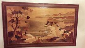 Sorrento inlaid wood picture