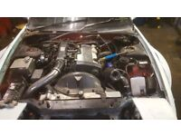 Nissan S13 200sx Ca18det complete engine and gearbox 300bhp stage 3 needs work CHEAP! drift s14