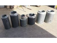 6 Carbon Filters, Various Sizes