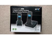 Brand New BT 2 Digital Cordless Handsets plus Answering Machine (XB2500)