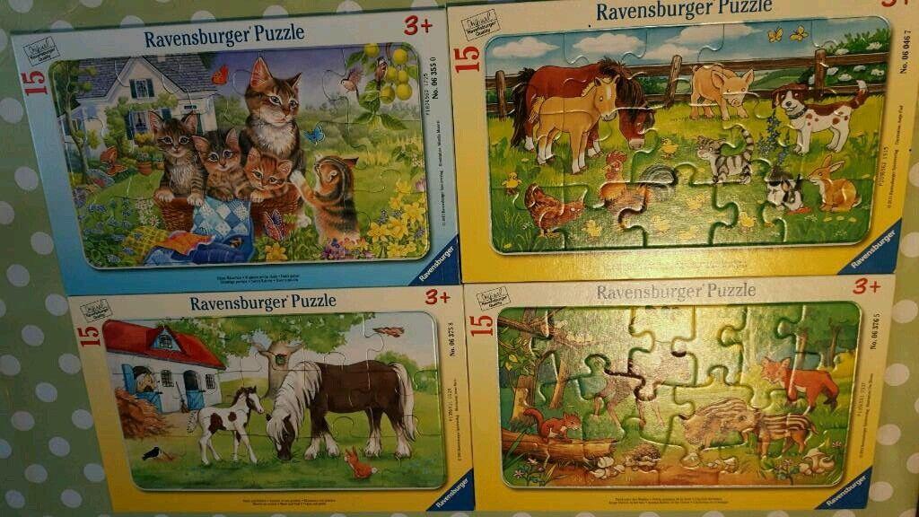 4 Ravensburger Puzzle