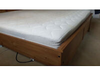Ikea king size frame and extra thick hamnik foam mattress