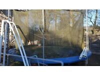 12' Trampoline. FREE. NEAR MILNGAVIE. IN STRATHBLANE. Needs a clean. Hardly used. TOYSrUS model.