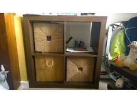 IKEA EXPEDIT unit in walnut effect with baskets