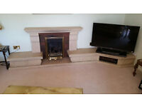 MInsterstone Fireplace with gas fire