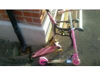 2 girls scooters. Needing repair