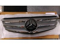 C Class Mercedes crome front grill