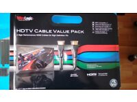 Wirelogic twin pack cdmi cables, brand new, high quality cables