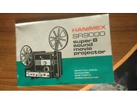 Hanimex SR900 Super 8 Sound Movie Projector Instruction manual paperback in good readable condition.