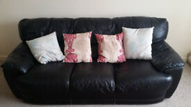 LEATHER 3 SEATER SOFA FREE FOR COLLECTION