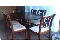 Dining room table and matching sideboard suite