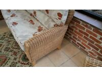 Conservatory/Lounge Cane Furniture - 4 Piece