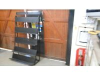 metal adjustable steel shelving unit with 5 shelves. 6ft high x 4 ft wide. very sturdy