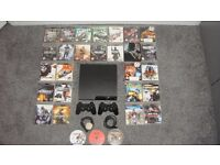 PS3 (Sony PlayStation 3) 2 Controllers 29 Games and All Leads