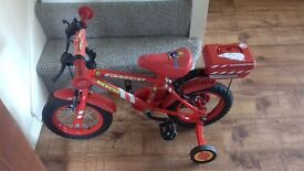 2x childrens fireman sam bikes