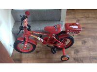 2x childrens fireman sam bikes