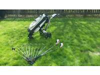 GOLF CLUBS WITH ELECTRIC TROLLEY £95