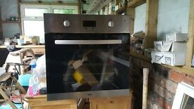 Bush electric fan under counter oven used for a couple of months as moved to bew house with gas 100