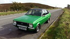 Limited Edition. Ford Escort MK2 1978. 1600 Ghia 4 door saloon.