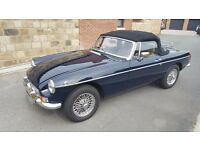 Glorious MGB Roadster in stunning Midnight Blue with Cream Leather and full Chrome