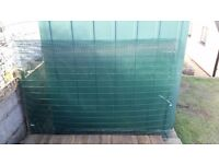 heavy gauge pvc coated wire mesh panels, ideal for chicken pen or dog run or security grilles etc