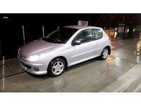 2006 Silver Peugeot 206 -Excellent condition