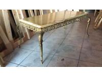 Marble Onyx and brass coffee table