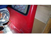 vw transporter t4 tailgate red door.