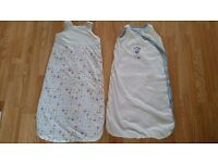 2x mothercare baby grobags 6-18months sleeping bag