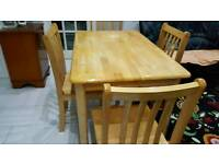 Solid wood dining table with chairs. Was £450 now only £150. *Free delivery*