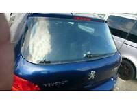 Peugeot 307 2005-2008 trunk door in blue colour